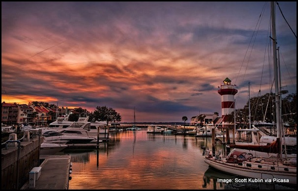 Hilton Head Harbour Town Sunset